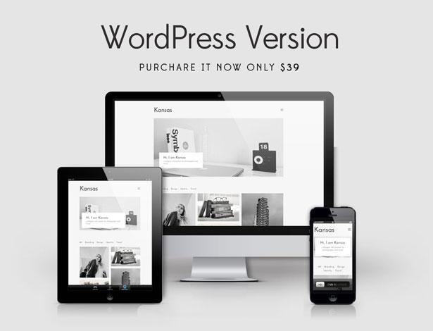 Kansas - Minimal Portfolio WordPress Template - 1